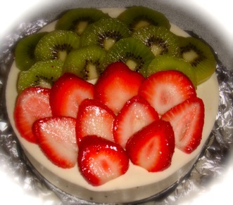 Fresh Fruit Red Bean Mousse Cake